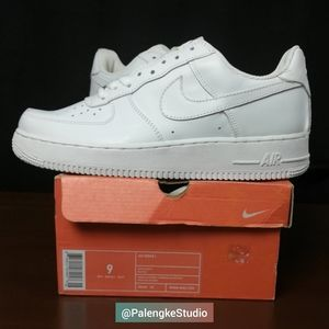 Nike Air Force 1 One Low Top All White